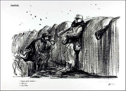 Dessin de Forain - 9 janvier 1915