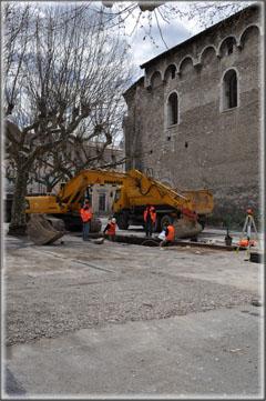 Fouilles archéologiques préventives place de la République 04