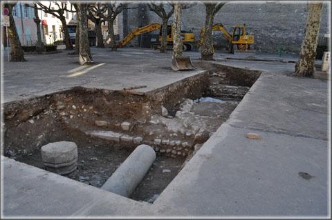 Fouilles archéologiques préventives place de la République 06