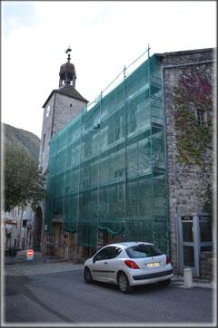 Consolidation des décors de la façade de la mairie de Châtillon 01