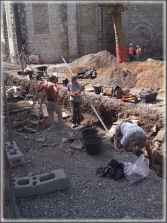 Vue générale du chantier.