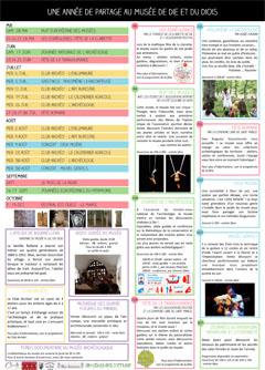 Programme de la saison culturelle 2017 du Musée de Die